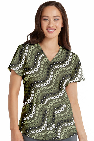 Med Couture Kerri Print Top Floral Swirl Plus Size