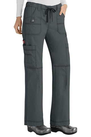 Dickies Scrub Pants Gen Flex Petite 857455P in Pewter at Parker's Clothing and Shoes