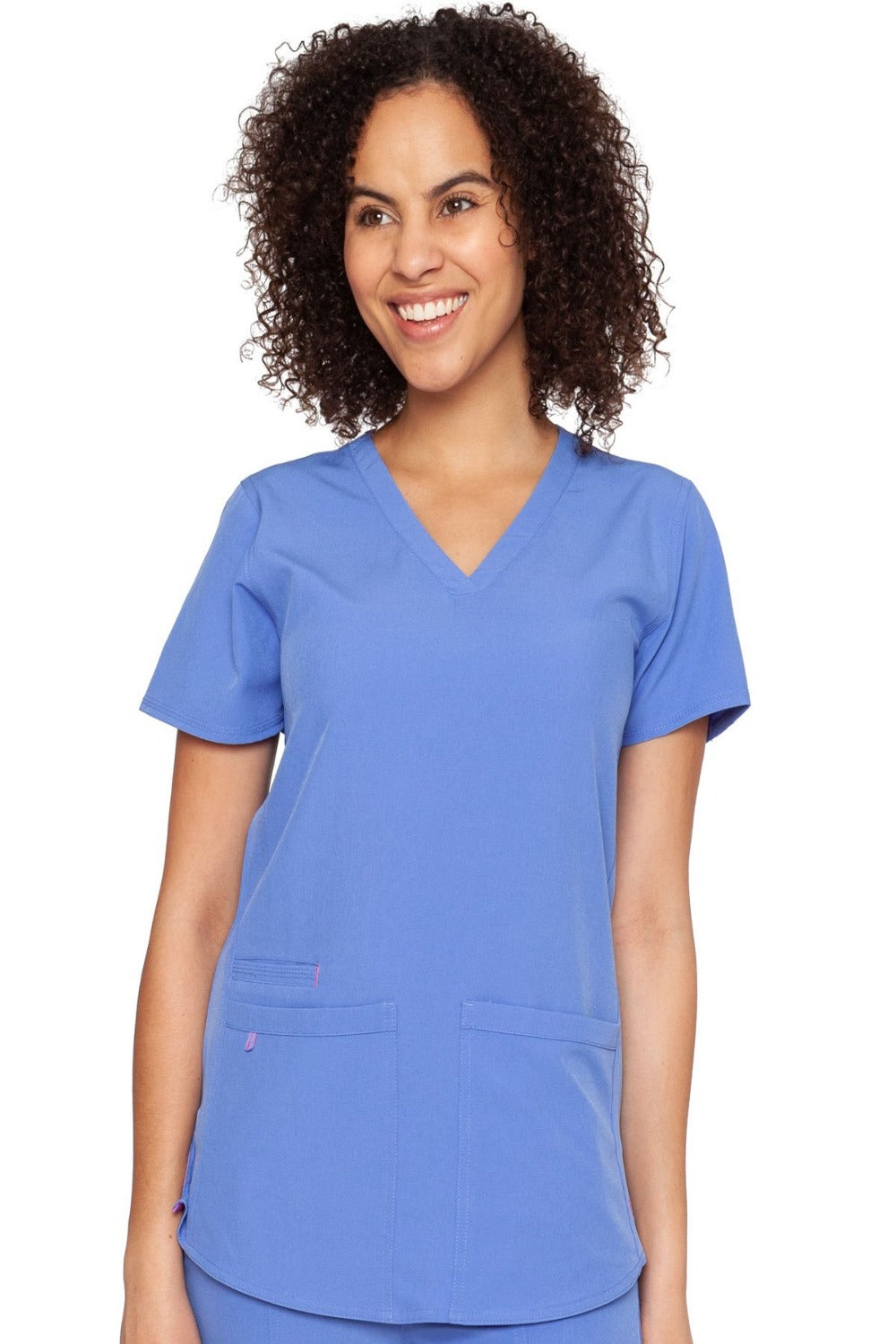 Med Couture Scrub Top Energy Serena Shirttail Hem V-neck Ceil - Parker's Clothing and Shoes