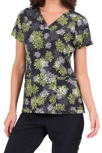 Med Couture Air Print Scrub Top Apple Starburst - Parker's Clothing & Gifts
