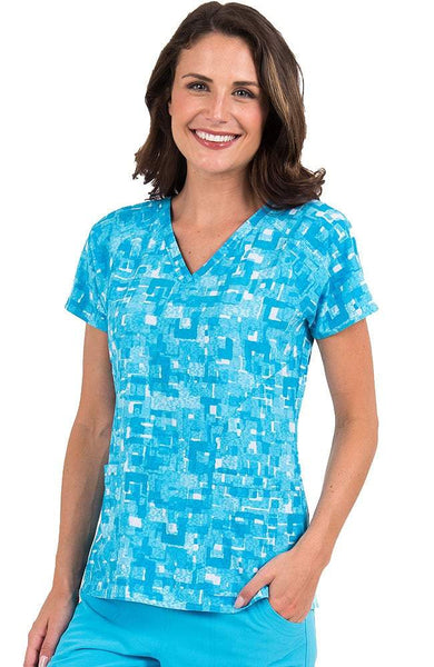 Med Couture Print Tops Paint Me Blue - Parker's Clothing & Gifts