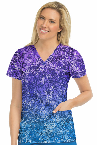 Med Couture Activate Print Top Sprinkle Ombre  Plus Size