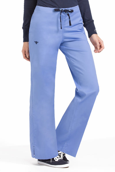 Med Couture Signature Drawstring Pant in Ceil Navy at Parker's Clothing and Shoes. Med Couture Sale Scrub Pants.