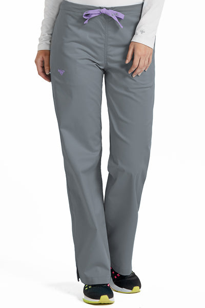 Med Couture Signature Drawstring Pant in Steel Peri at Parker's Clothing and Shoes. Med Couture Sale Scrub Pants.