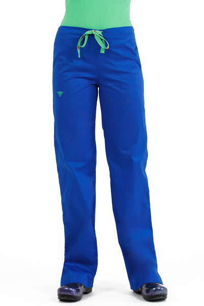 Med Couture Signature Drawstring Pant in Royal Keylime at Parker's Clothing and Shoes. Med Couture Sale Scrub Pants.