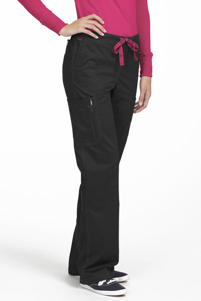 Med Couture Tall Scrub Pant MC2 Layla 8741 in Black At Parker's Clothing and Shoes