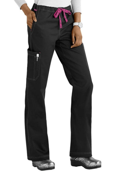 Med Couture Scrub Pants MC2 Layla in Black at Parker's Clothing and Shoes