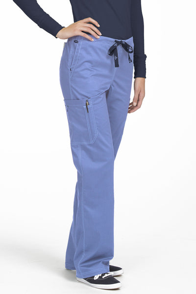 Med Couture Tall Scrub Pant MC2 Layla 8741 in Ceil At Parker's Clothing and Shoes