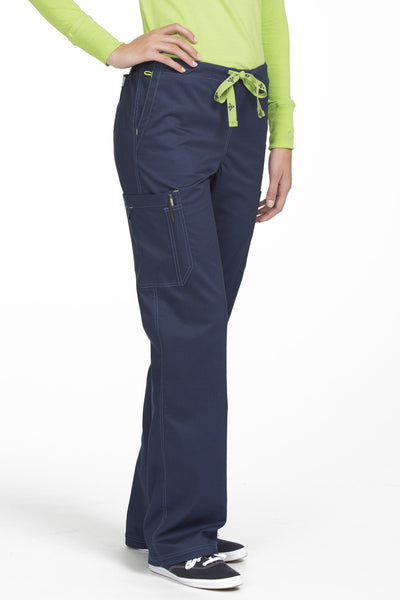 Med Couture Tall Scrub Pant MC2 Layla 8741 in Navy At Parker's Clothing and Shoes