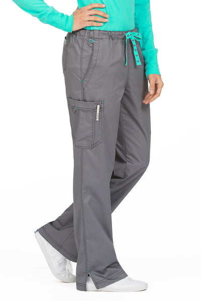 Med Couture Tall Scrub Pant MC2 Layla 8741 in Steel At Parker's Clothing and Shoes