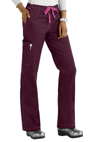 Med Couture Scrub Pants MC2 Layla in Wine at Parker's Clothing and Shoes