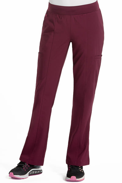 Med Couture Scrub Pant Energy Paige Cargo Scrub Pant Wine - Parker's Clothing and Shoes