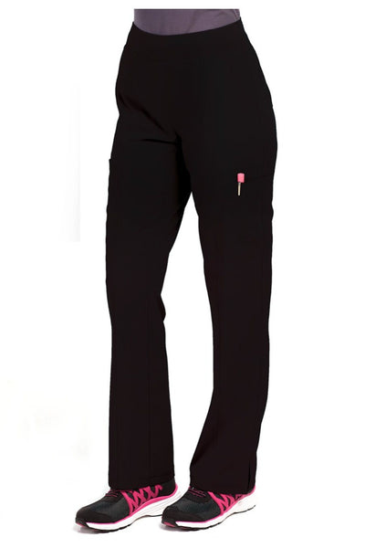 Med Couture Scrub Pant Energy Paige Cargo Scrub Pant Black - Parker's Clothing and Shoes