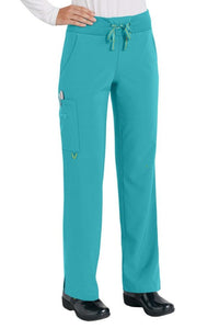 Med Couture Scrub Pant Activate Yoga Pant Aqua - Parker's Clothing and Shoes
