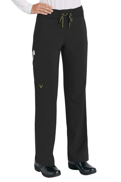 Med Couture Scrub Pant Activate Yoga Pant Black - Parker's Clothing and Shoes