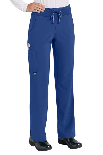 Med Couture Scrub Pant Activate Yoga Pant Galaxy Blue - Parker's Clothing and Shoes