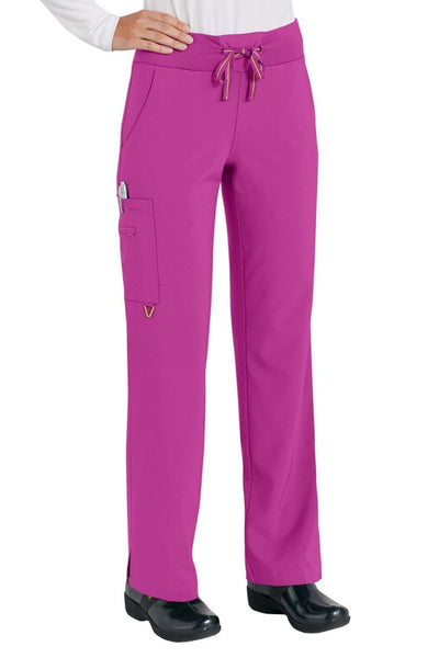 Med Couture Scrub Pant Activate Yoga Pant Magenta - Parker's Clothing and Shoes