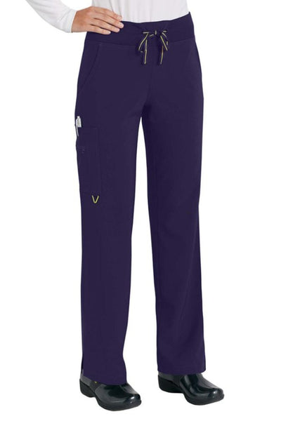Med Couture Scrub Pant Activate Yoga Pant Plum - Parker's Clothing and Shoes