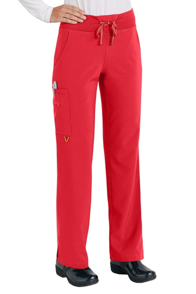 Med Couture Scrub Pant Activate Yoga Pant Red - Parker's Clothing and Shoes