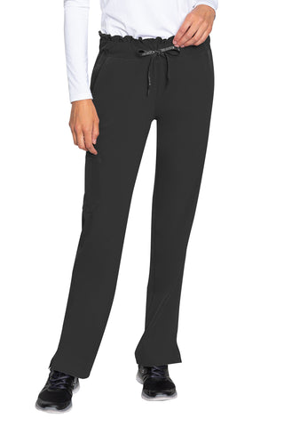 Med Couture Scrub Pants Peaches Merrow Waist Black - Parker's Clothing and Shoes