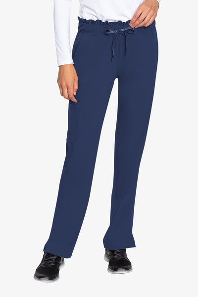 Med Couture Scrub Pants Peaches Merrow Waist Navy - Parker's Clothing and Shoes