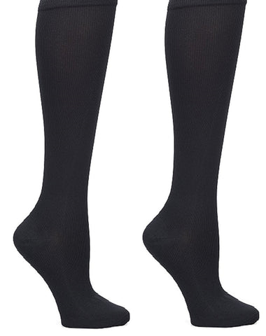 Nurse Mates Mild Compression Socks 12-14 mmHg 2 pair per Pack in Black at Parker's Clothing & Shoes.