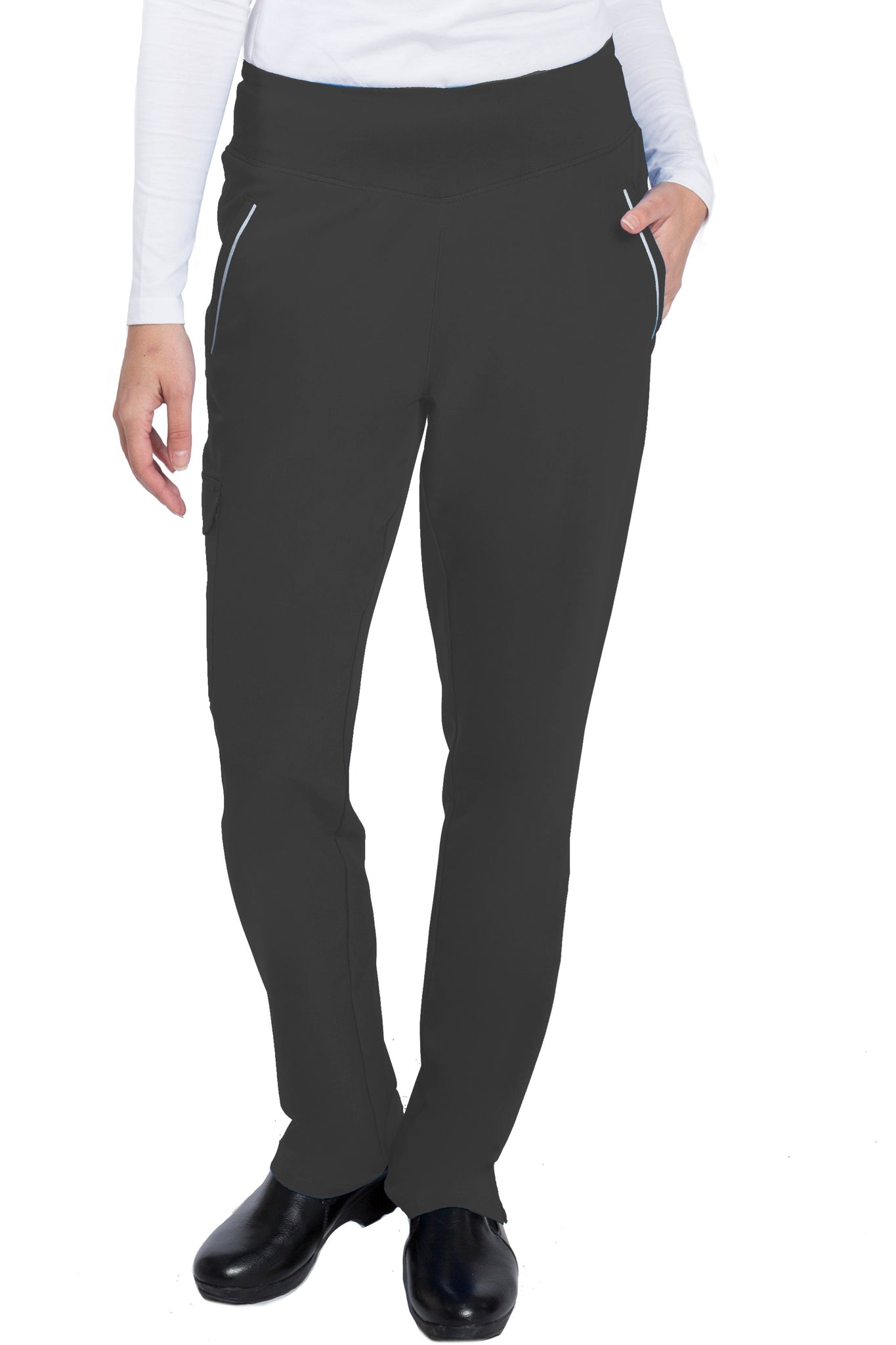 Healing Hands HH360 Naomi Yoga Waist Scrub Pant Black - Parker's Clothing and Shoes