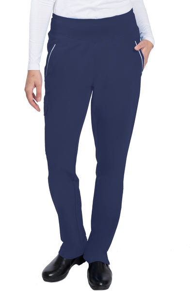 Healing Hands HH360 Naomi Yoga Waist Petite Scrub Pant Navy - Parker's Clothing and Shoes