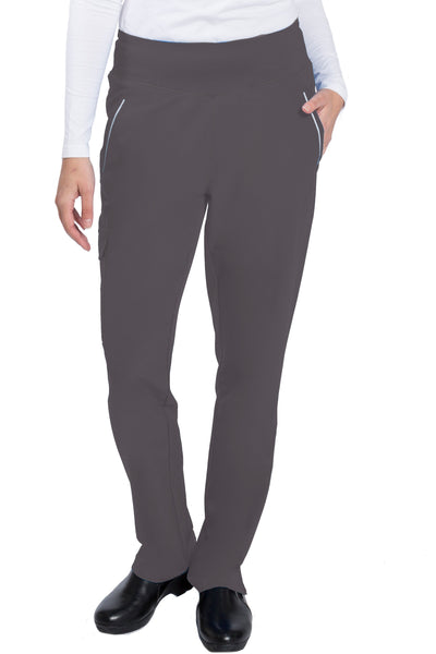Healing Hands HH360 Naomi Yoga Waist Petite Scrub Pant Pewter - Parker's Clothing and Shoes