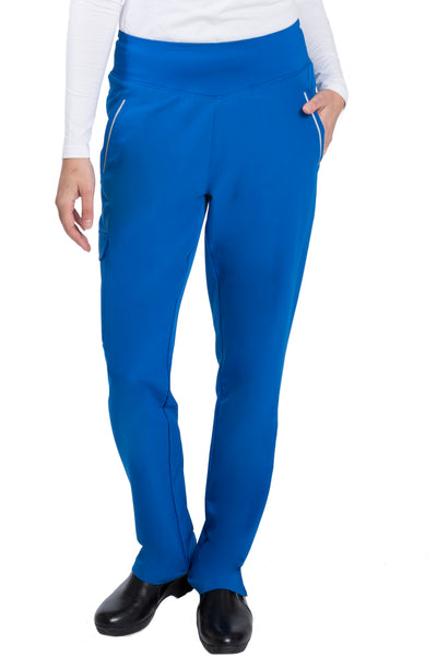 Healing Hands HH360 Naomi Yoga Waist Petite Scrub Pant Royal - Parker's Clothing and Shoes