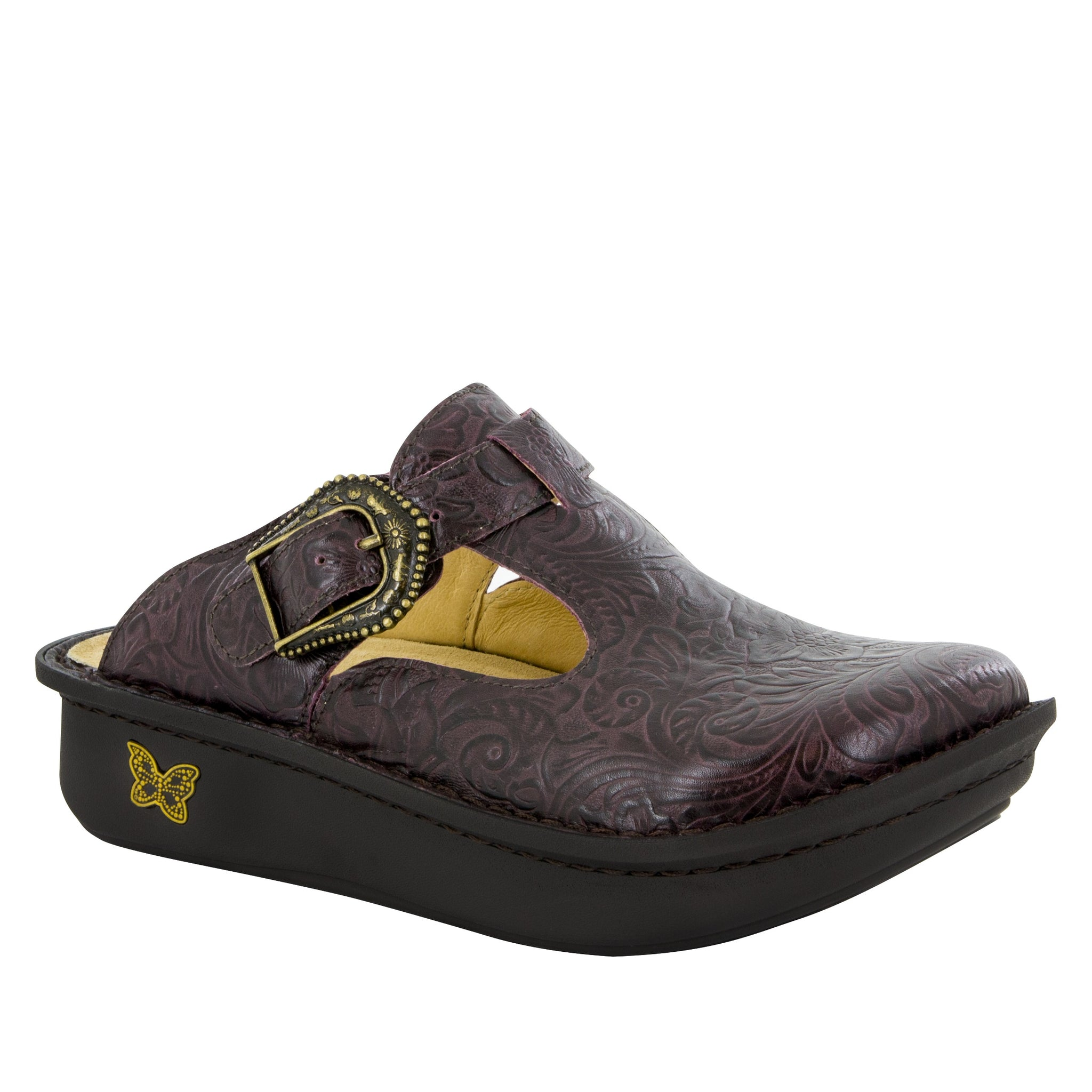 Alegria Classic Molasses Tooled Clog - Parker's Clothing & Gifts