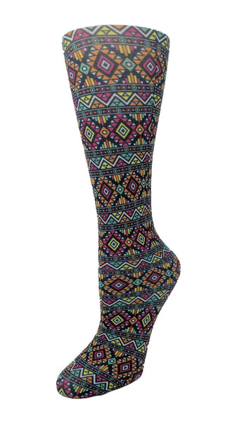 Cutieful Moderate Compression Socks 10-18 MMhg Wide Calf Knit Azteca at Parker's Clothing and Shoes.