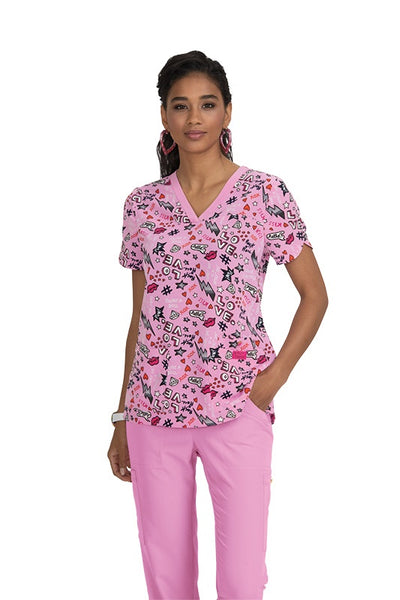 Koi Print Scrub Tops Plus Sizes Betsey Day