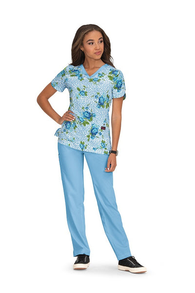 Koi Print Scrub Tops Plus Sizes Floral Leopard