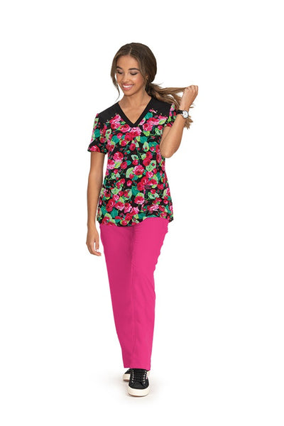 Koi Print Scrub Tops Plus Sizes Bloomerang Floral