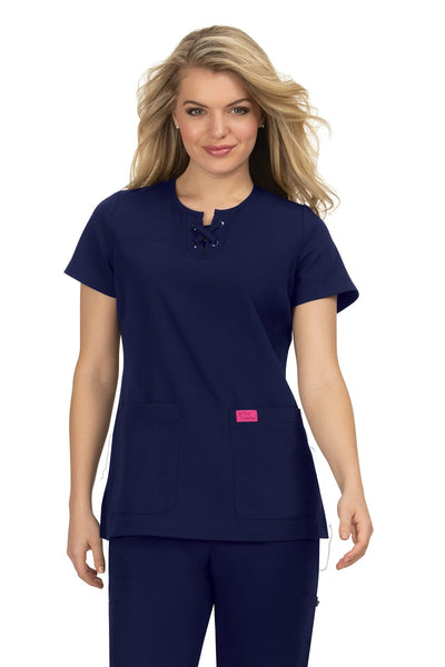 Betsey Johnson Plus Size Scrub Top Clover in Navy at Parker's Clothing and Shoes