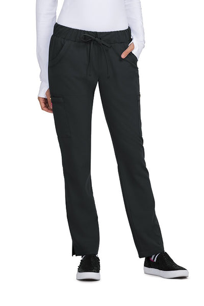Betsey Johnson Scrub Pants Buttercup Slim Fit in Black at Parker's Clothing and Shoes