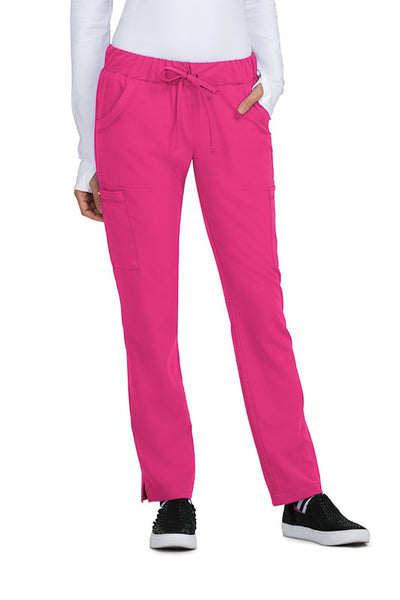 Betsey Johnson Scrub Pants Buttercup Slim Fit Petite in Flamingo at Parker's Clothing and Shoes