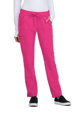 Betsey Johnson Scrub Pants Buttercup Slim Fit in Flamingo at Parker's Clothing and Shoes