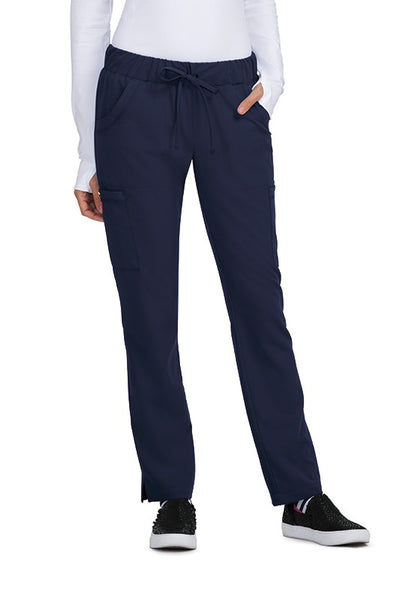 Betsey Johnson Scrub Pants Buttercup Slim Fit Petite in Navy at Parker's Clothing and Shoes