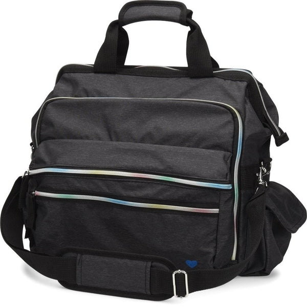 Nurse Mates Ultimate Nursing Bag Charcoal Rainbow