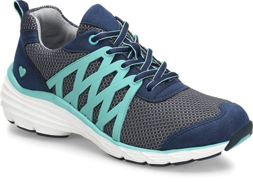 Nurse Mates Align Brin Athletic Shoe in Navy/Teal at Parker's Clothing and Shoes.