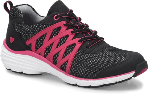 Nurse Mates Align Brin Athletic Shoe in Black/Pink at Parker's Clothing and Shoes.