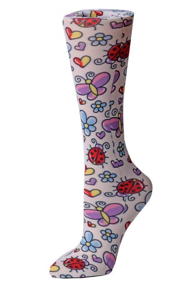 Cutieful Compression Socks Sheer 8-15 mmHg Bugs