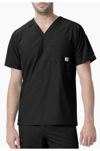 Carhartt Liberty Mens Scrub Top Slim Fit in Black at Parker's Clothing and Shoes
