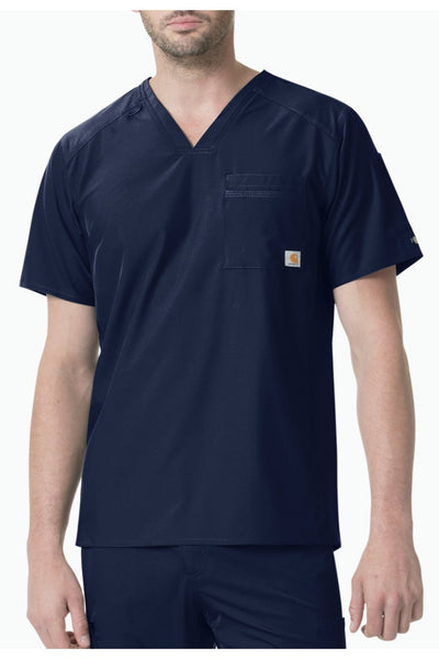 Carhartt Liberty Mens Scrub Top Slim Fit in Navy at Parker's Clothing and Shoes