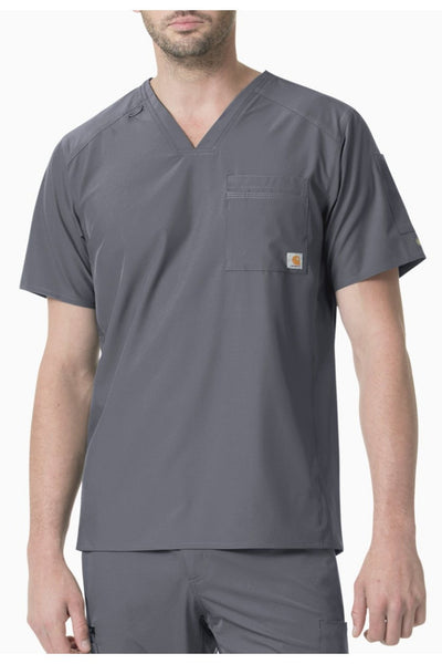 Carhartt Liberty Mens Scrub Top Slim Fit in Pewter at Parker's Clothing and Shoes