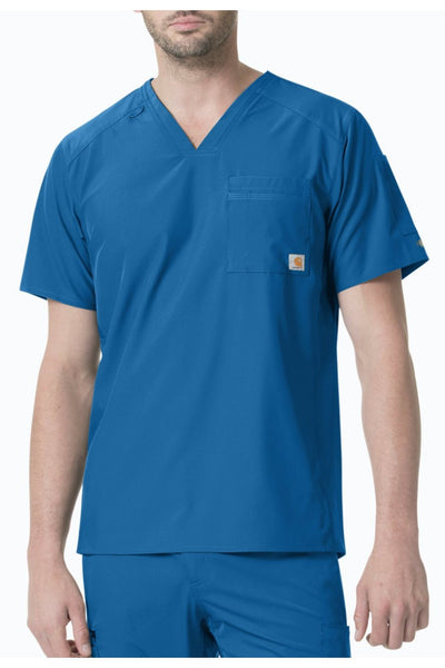 Carhartt Liberty Mens Scrub Top Slim Fit in Royal at Parker's Clothing and Shoes
