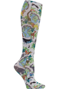 Cherokee Mild Compression Socks Comfort Support 8-15 mmHg in Earth Day Pattern at Parker's Clothing and Shoes.