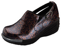 Sale Shoe Dickies Victory Axiom Side Buckle Brown/Gold Leopard  - Parker's Clothing & Gifts